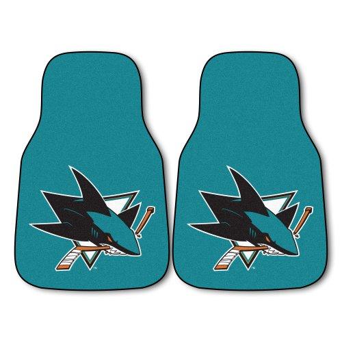 FANMATS NHL San Jose Sharks Nylon Face Carpet Car Mat ()