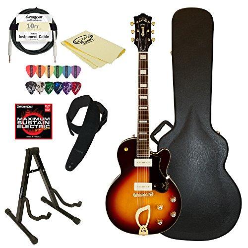 Guild M-75 Aristocrat Hollow Body Electric Guitar with Case & ChromaCast accessories, Antique Burst -  GO-DPS, M-75 Aristocrat ATB-KIT-2