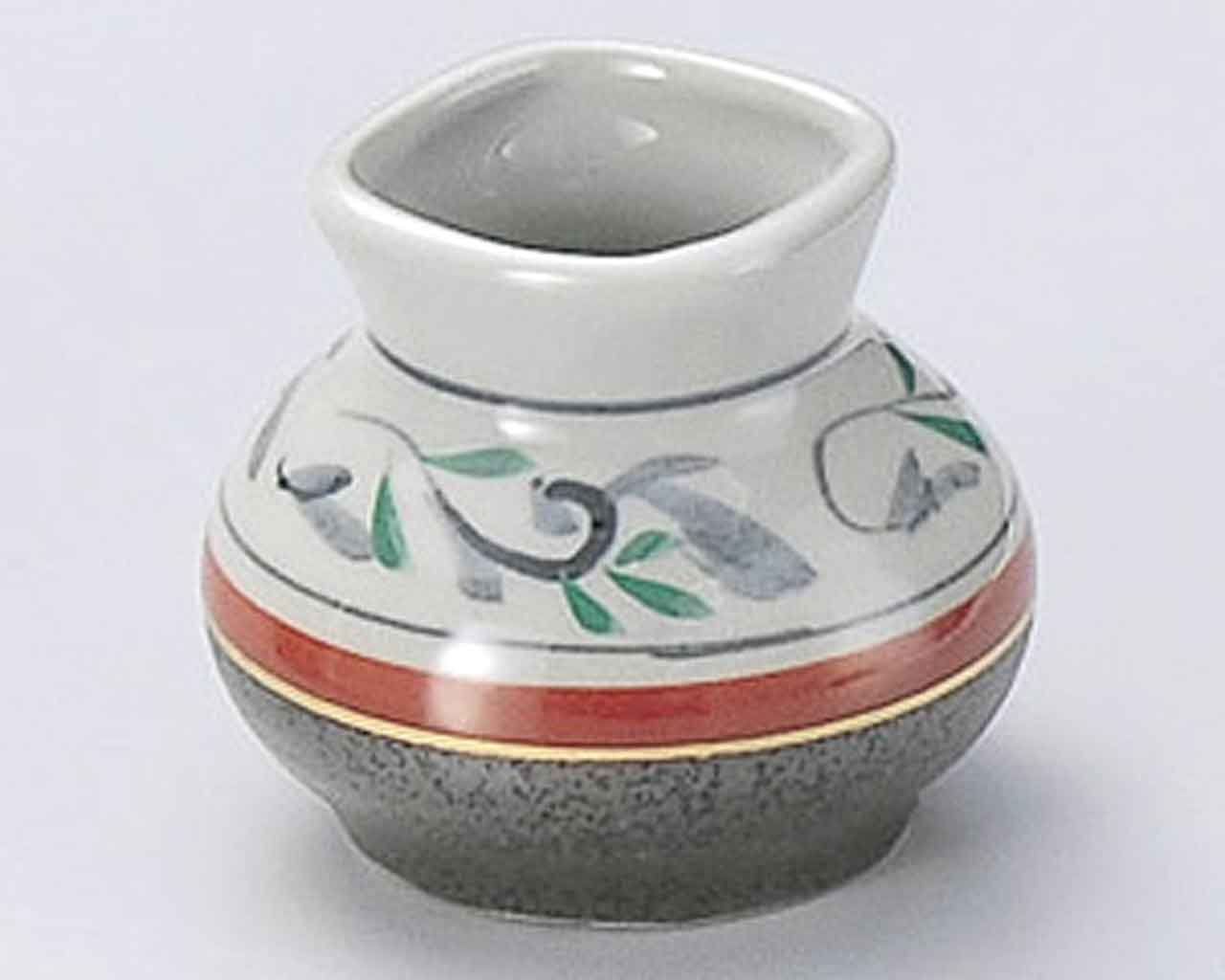 Tessa Karakusa 2.6inch Set of 5 Toothpick holders Grey Ceramic Made in Japan