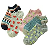 Fashion 5 Pairs Women/Girl Colorful No Show Socks Ankle Socks ,A