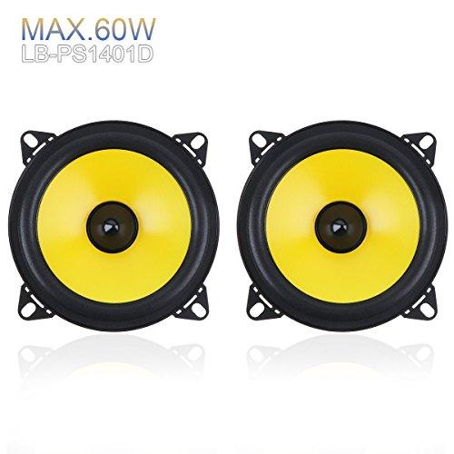 2pcs 4 inch 60W 2-Way Full Range Frequency Car Audio Stereo Speaker Car Speaker Automobile Loudspeaker