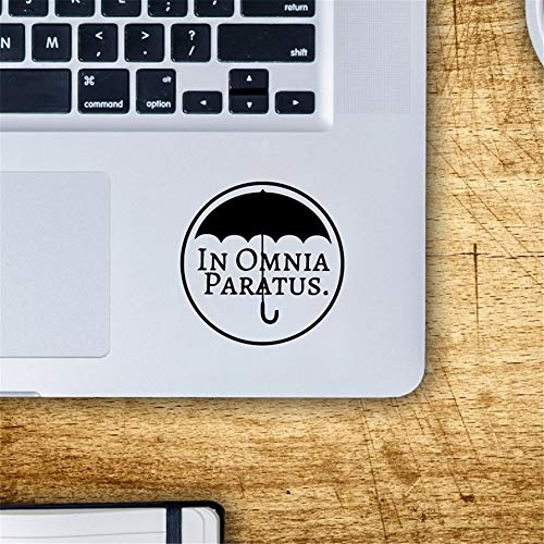 Gails Wall Decal Peel and Stick Removable Wall Stickers in Omnia Paratus Car Laptop Decal for Apple MacBook Decal Pro Air Retina Touch Bar Mac Trackpad Sticker ()