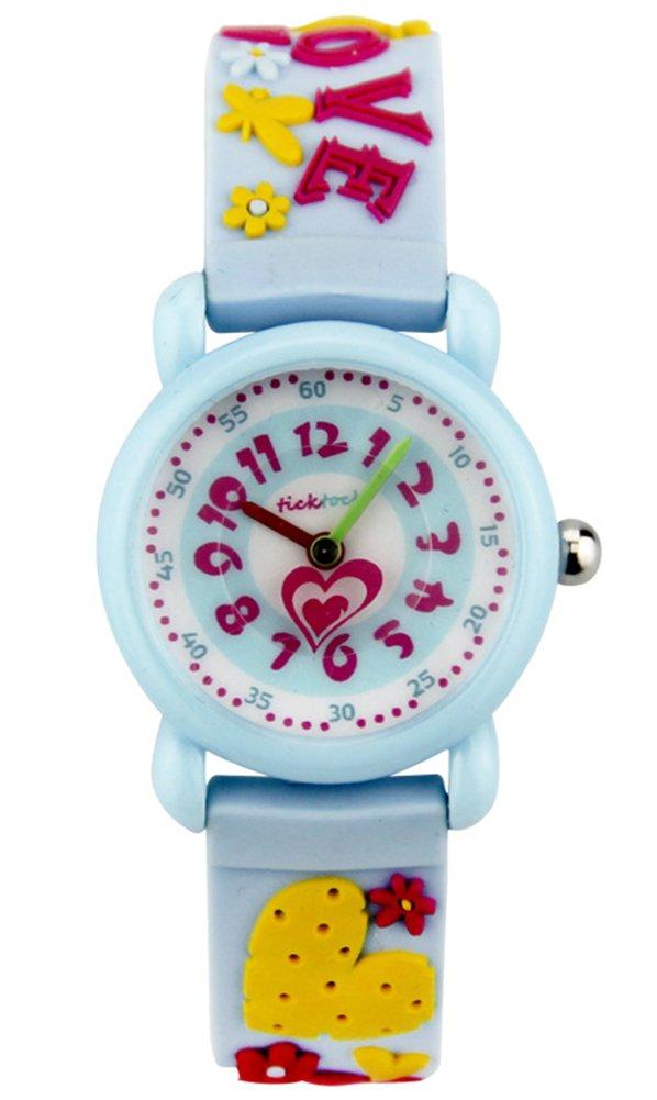 Cheamlion Kids Toddler Girls Cute Love Wrist Analog Quartz Elastic Jelly Watch