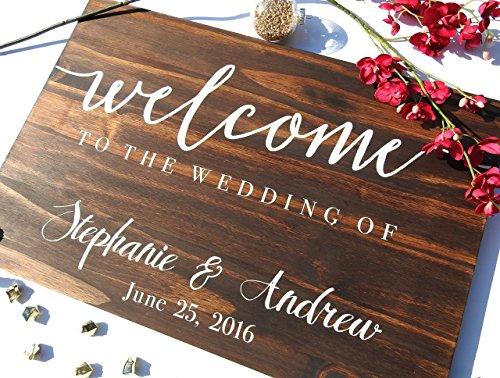 Welcome Wedding sign Welcome sign wedding sign, wooden sign Welcome wedding, Wooden Welcome Sign, wood wedding sign welcome sign. Design #130 by Bravood Wood Design