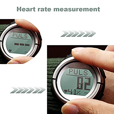Toprime®Activity Tracker Pedometer PDM1219 Heart Rate Monitor 3D Sensor Watch Paulse Watch Counter Steps/Distance/Caloriers/Fat without Chest Belt,Black