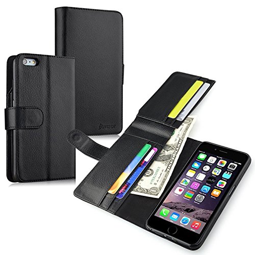 iPhone 6 Plus/ iPhone 6S Plus Case, Insten Stand Wallet Leather Case with Credit Card Slot compatible with Apple iPhone 6 Plus/ iPhone 6S Plus(5.5