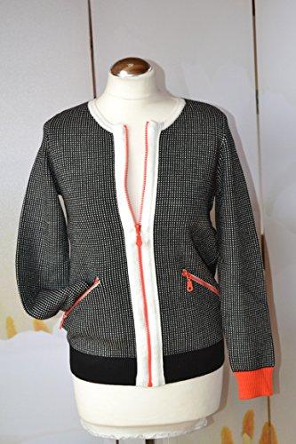 Yuka Paris, mujer chaqueta de punto con Arroz sver schlüss Talla 36,38,40,42, de calidad.
