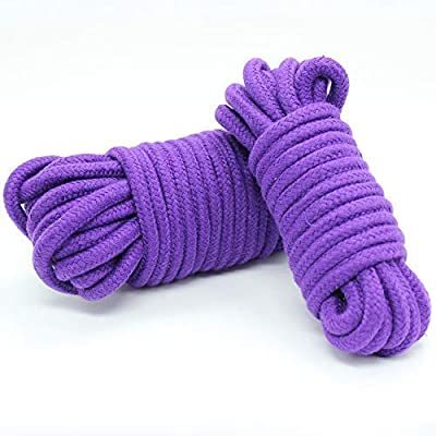 STTQYB Soft Rope, Multipurpose Use Soft Rope,Soft Cotton Rope-32 feet 10m Multi-Function Natural Durable Long Rope (Purple): Sports & Outdoors