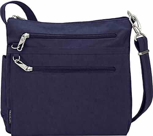 d56decbdd Travelon Anti-Theft Essential North/South Bag - Small Nylon Crossbody for  Travel &