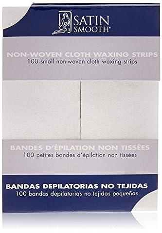 SATIN SMOOTH Small Non-woven Cloth Waxing Strips - Non Woven Waxing