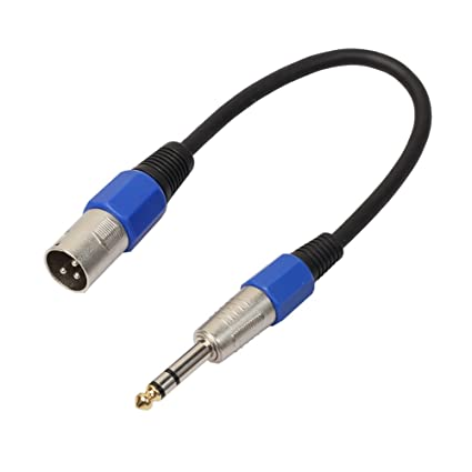 "UTP Professional 35cm 3Ppin XLR Male Jack to 1/4"" 6.35mm Female Plug"