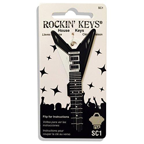 - Rockin' Keys Black V Electric Guitar Shaped Schlage SC1