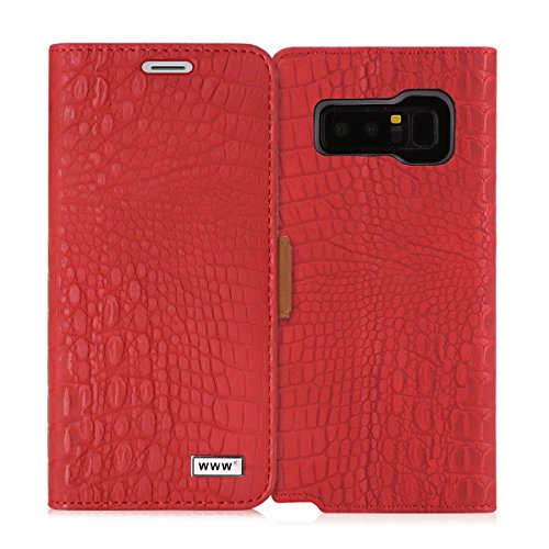 - Note 8 case, Galaxy Note 8 case, WWW [Crocodile Pattern] Premium PU Leather Wallet Case Flip Phone Case Cover with Card Slots for Samsung Galaxy Note 8 Red
