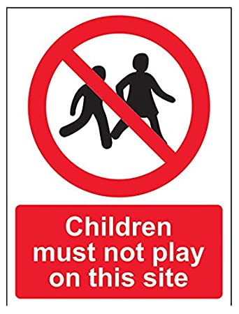 Autoadesivo verticale 150/mm x 200/mm vsafety 52029/an-s su questo sitoI bambini non devono Play divieto accesso Sign colore: nero//rosso