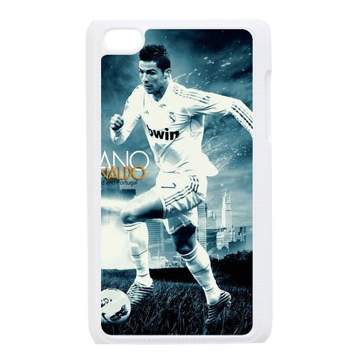 Vcase-006 The Best Soccer Player Portugal Real Madrid FC Cristiano Ronaldo Hard Printed Case Cover Protector for iPod Touch 4/4G /4th Generation