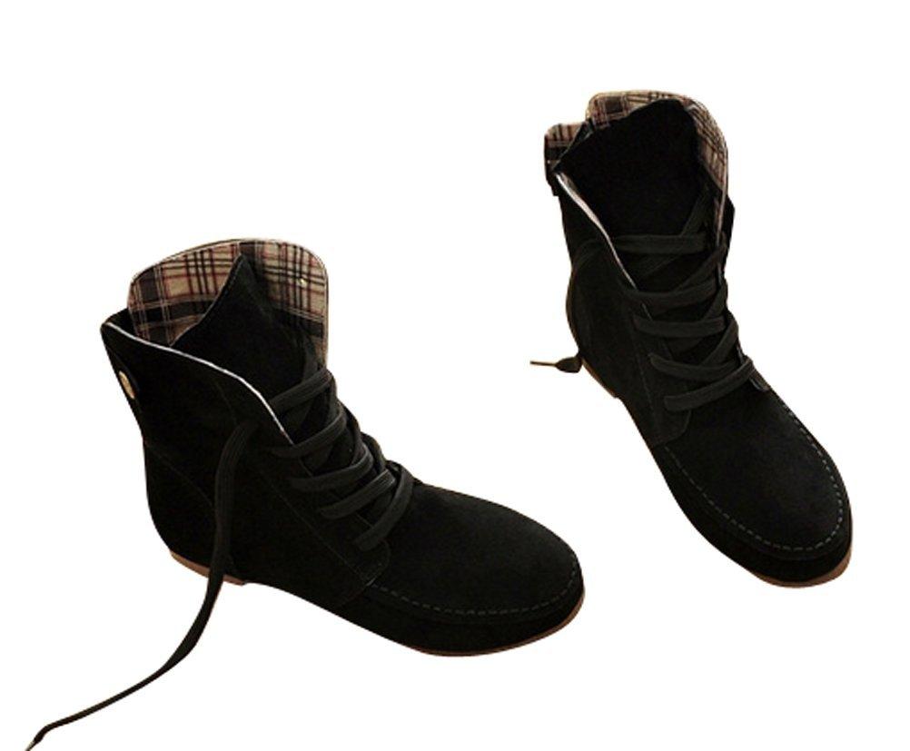 Brinny 19997 Mixed Adult à Plat Bottes à Brinny Lacets Suede mi-mollet Femme Martin Bottines Chaussures Grande Taille - Multi-couleur et Multi-taille au Choix 12 Taille: 33-44 Noir(Chaud Doublé) c4b0ce2 - reprogrammed.space