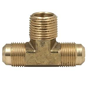 Brasscraft 145-6-6 3/8 O.D. by 3/8 O.D. by 3/8 -Inch Tee, Rough Brass