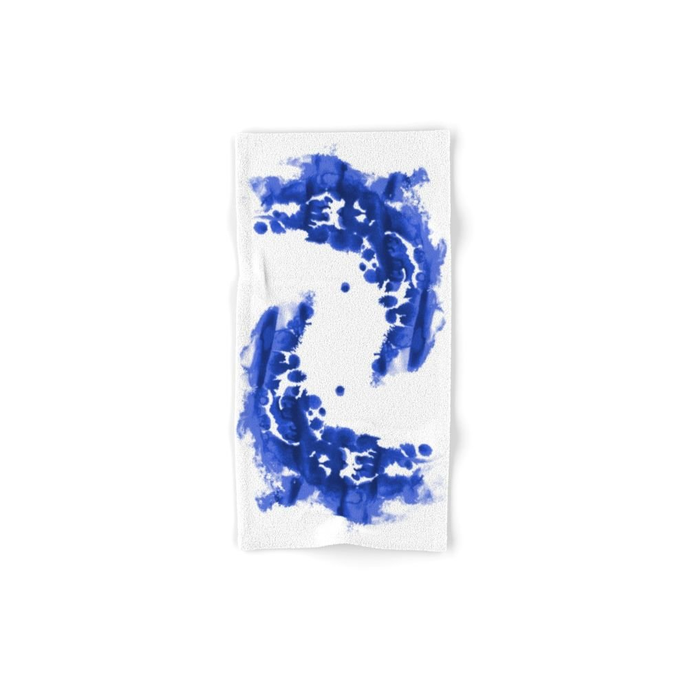 Society6 Paint 9 Abstract Indigo Watercolor Painting Minimal Modern Canvas Affordable Dorm College Art Hand Towel 30''x15''