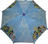 Disney Fairies Girls Umbrella With 3D Tinkerbell Molded Handle Blue