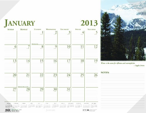 UPC 040983203425, House of Doolittle Earthscapes Scenic Desk Pad Calendar 12 Months January 2013 to December 2013, 22 x 17 Inches, Color Photo, Clear Corners, Recycled (HOD144)
