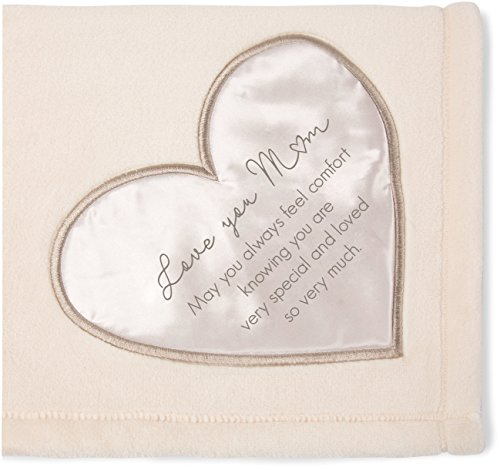 Pavilion Gift Company 19502 Comfort Blanket - Love You Mom Thick Warm 320 GSM Royal Plush Throw Blanket