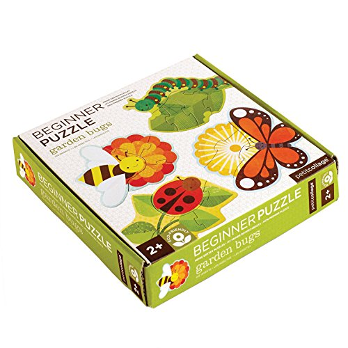 Petit Collage Beginner Jigsaw Floor Puzzle, Garden Bugs