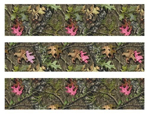 Mossy-Oak-with-pink-leaves-Camo-edible-cake-strips-cake-topper-decorations-birthday