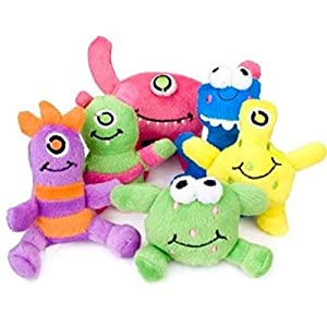 Fun Express Monsters Plush (1 Dozen) - 519x3 2B1J15L - Fun Express Monsters Plush (1 Dozen) Party Favors, Halloween and Toy Crane Fillers