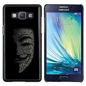 EJOOY---Cubierta de la caja de protección para la piel dura ** Samsung Galaxy A5 A5000 ** --Máscara Anonymous Hacker Código Tech Robot