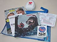 PADI Rescue Diver Crew Pack with Pocket Mask Training Materials for Scuba Diver