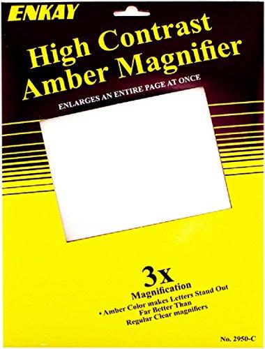 Enkay 2950-C  3X Sheet Magnifier, - Magnifier Carded