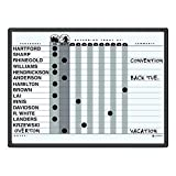 TableTop King 781G 18'' x 24'' Magnetic Porcelain In-Out Whiteboard with Black Aluminum Frame