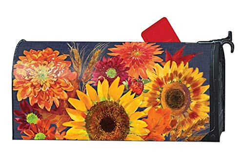 MailWraps Studio M Oversized Mailbox Cover - Autumn Toss by MailWraps