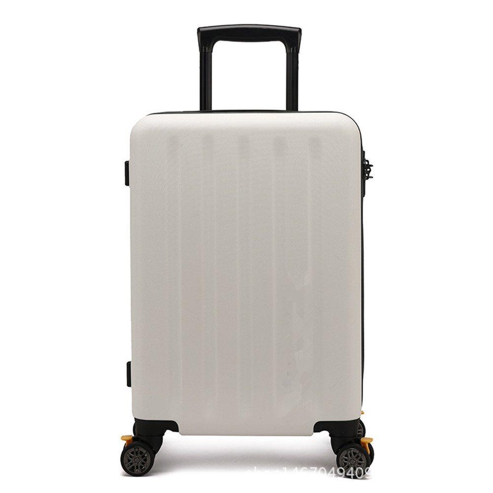 軽量スーツケース ビジネスPCソリッドカラーユニバーサルホイールプルロッドボックス20インチジッパー荷物室チェックインボックス24インチ荷受けスーツケース 旅行スーツケース   B07R5R6Q9Q