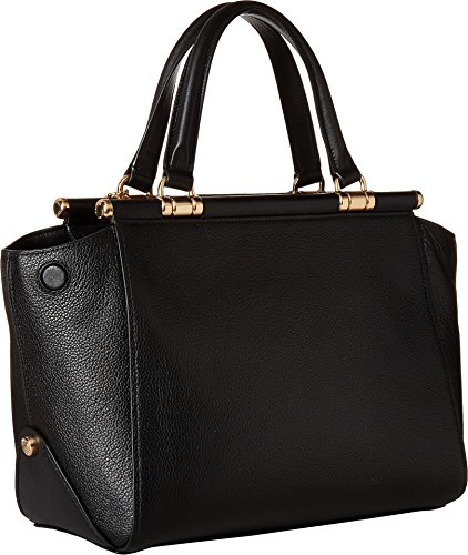 Li Satchel Drifter Black Polished COACH Leather Womens Pebble in UqZWWw0T