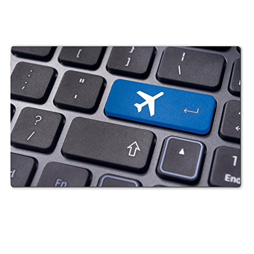 MSD Natural Rubber Large Table Mat 28.4 x 17.7 x 0.2 inches IMAGE ID 20325071 a plane sign on keyboard to illustrate online booking or purchase of plane ticket or business travel concepts (Air Tickets Purchase compare prices)