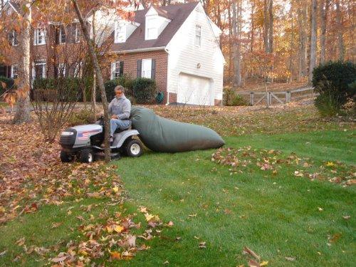 Lawn Tractor Leaf Bag- Never Rake Again