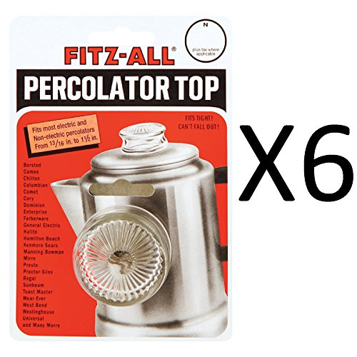 Dia Glass Top (Tops Replacement Percolator Top Fits Opening From 13/16
