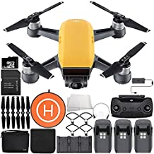 DJI Spark Portable Mini Drone Quadcopter Fly More Combo Landing Pad Ultimate Bundle (Sunrise Yellow)