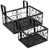 Tosnail Set of 2 Rectangular Metal Plant Stand