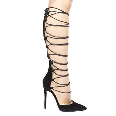c91f5c511bb4 Shoe Republic LA Macaroni Womens Gladiator Heels (8
