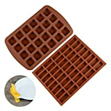 small silicone baking molds - Silicone Brownie Baking Molds Pan - Small Cake Molds Square and Rectangular Silicone Molds Set of 2