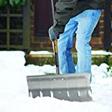 True Temper 24 in. Aluminum Snow Pusher with Durable aluminum blade with reinforced socket