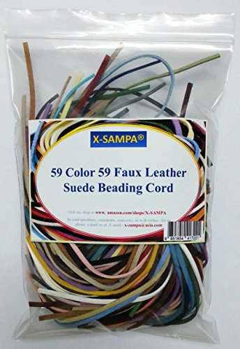 59 Color 59 Faux Leather Suede Beading Cord 3 Feet Per Piece.