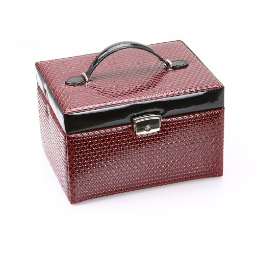 Rowling faux Leather Jewellery/Jewelry Box / case / storage/ organizer with travel case and lock ZG018