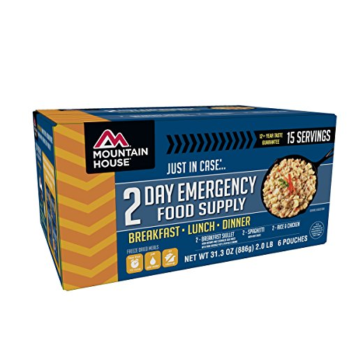 - Mountain House 2-Day Emergency Food Supply Kit