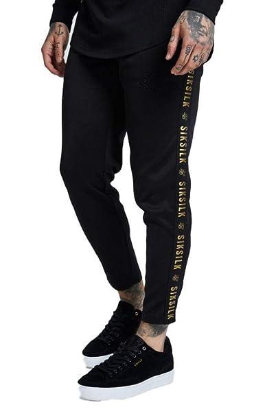 Sik Silk Pantalon Cropped Gold Jogger Negro y Oro  Amazon.es  Ropa y  accesorios 5a3609981765