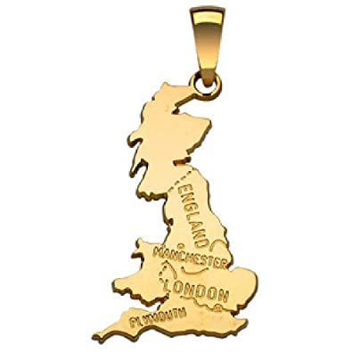 So Chic joyería - colgante tarjeta Bretaña Inglaterra ...