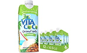 Vita Coco Coconut Water, Pineapple - Naturally Hydrating Electrolyte Drink - Smart Alternative to Coffee, Soda, and Sports Drinks - Gluten Free - 16.9 Ounce (Pack of 12)
