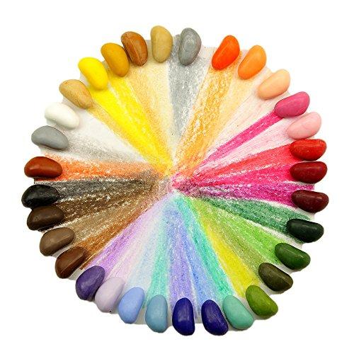 Crayon Rocks 32 Color in a Muslin Bag by Crayon Rocks (Image #1)